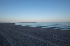 Półmrok w gruntowym punkcie w Els Terrers plaży w Benicassim zdjęcie royalty free