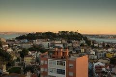 Półmrok w Lisbon pejzażu miejskim zdjęcie royalty free
