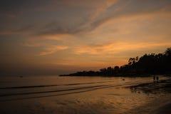 Półmroku niebo przy plażą Obrazy Royalty Free