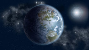 Północ I Południe Ameryki w wschodzie słońca Obrazy Stock