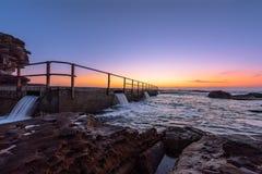 Północ kędzioru kędzioru plaża przed wschodem słońca Zdjęcia Stock
