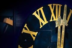 Północ na wierza zegarze fotografia royalty free
