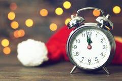 Północ zegar szczęśliwego nowego roku, zdjęcie royalty free