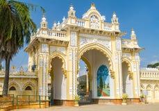 Północna brama Mysore maharajapałac Zdjęcie Stock