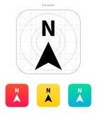 Północna kierunku kompasu ikona. Zdjęcia Stock
