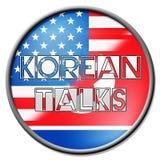 Północna Korea Jądrowa dyplomacja Z Usa 3d ilustracją royalty ilustracja