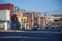 Północna Salina ulica, Syracuse, NY zdjęcie stock
