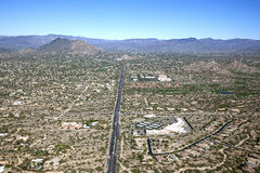 Północna Scottsdale i jamy zatoczka Obrazy Royalty Free