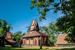 Północna Tajlandzka architektura historyczny Baan Duma muzeum, Chiang R obrazy royalty free