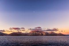 Północna wyspa Nowy Zealand od dużego promu zdjęcia royalty free