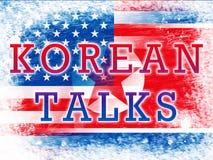 Północne Korea Jądrowe rozmowy Z Usa 3d ilustracją ilustracji