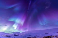Północnego światła zorzy borealis Iceland zdjęcia stock