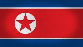 Północnego Korea flaga royalty ilustracja