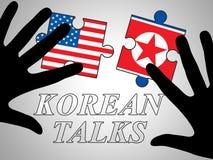Północnego Korea rozbrojenia dyplomacja Z Usa 3d ilustracją ilustracji