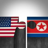 Północnego Korea Stany Zjednoczone zgoda royalty ilustracja