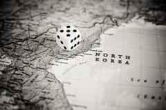 Północnego Korea wyzwanie międzynarodowy wojenny pojęcie zdjęcie stock