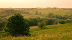 Północnego wschodu Nebraska wieś obrazy stock