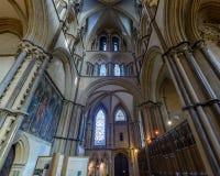 Północnego wschodu transept w Lincoln katedrze obrazy royalty free