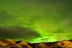 Północni światła, aurora borealis w Vik, Iceland obrazy royalty free