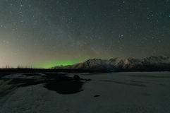 Północni światła I Milky sposób Obrazy Royalty Free