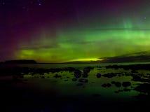 Północni światła 03 11 15, jeziorny Ladoga, Rosja Obrazy Stock
