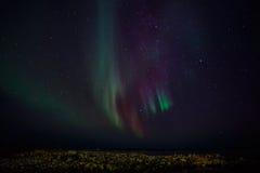 Północni światła na brzeg Zdjęcie Royalty Free