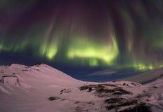 Północni światła na Kola półwysepie Teriberka, Murmansk Regio zdjęcia royalty free