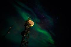 Północni światła nad Nuuk Obrazy Stock