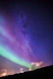Północni światła nad Nuuk miastem Obrazy Royalty Free