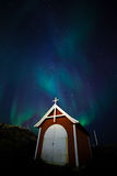 Północni światła w Greenland Fotografia Stock