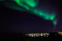 Północni światła w Greenland Obrazy Stock
