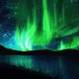 Północni światła, zorza ilustracja wektor