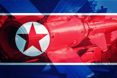 Północno-koreański ICBM pocisk Jądrowa bomba, test jądrowy obrazy stock