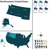 Północno-zachodni Stany Zjednoczone Fotografia Stock