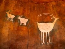 Północnoamerykańscy petroglify Zdjęcia Royalty Free