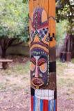 Północnoamerykańska totem maska Fotografia Stock