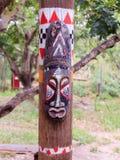Północnoamerykańska totem maska Zdjęcia Royalty Free