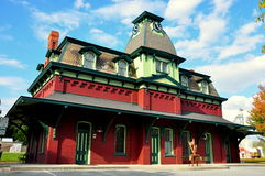 Północny Bennington, VT: 1880 stacja kolejowa zegar Obraz Stock
