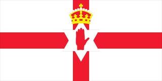 północny chorągwiany Ireland Zdjęcia Royalty Free