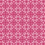 Północny czerwony biały bezszwowy wzór Obrazy Royalty Free