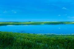 Północny Dakota staw zdjęcia stock