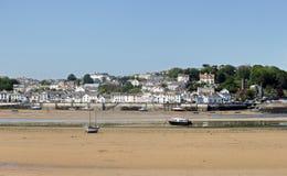 Północny Devon nadmorski miasteczko Appledore przeglądał od Instow Obrazy Royalty Free