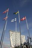 PÓŁNOCNY flaga hotel SKYBELLA I CONGRESSS centrum Obraz Stock
