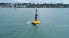 Północny Główny boja markier dla statków Unikać niebezpieczeństwo zdjęcie wideo