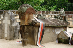 północny Indonesia antyczny grobowiec Sumatra zdjęcie stock