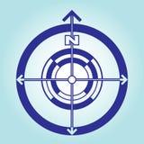Północny kierunku znak na bławym tle Orientacja na stronach świat Wektorowy płaski projekt royalty ilustracja