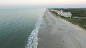 Północny marsel wyspy widok z lotu ptaka ocean i plaża zbiory wideo