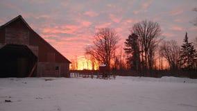 Północny Minnestoa wschód słońca Fotografia Stock