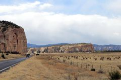Północny Nowy - Mexico południowych zachodów krajobraz obraz royalty free