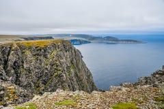 Północny przylądek Nordkapp i Barents morze przy północą wyspa Mageroya w Finnmark, Norwegia Obraz Royalty Free